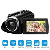 FLOUREON Wifi Camcorder 4K Ultra-HD