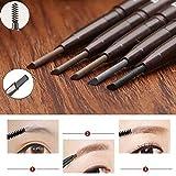 JaneDream Double Head Eyebrow Pencil Waterproof Automatic Eyeliner Pen Drawing Eye Brow Brown 5#