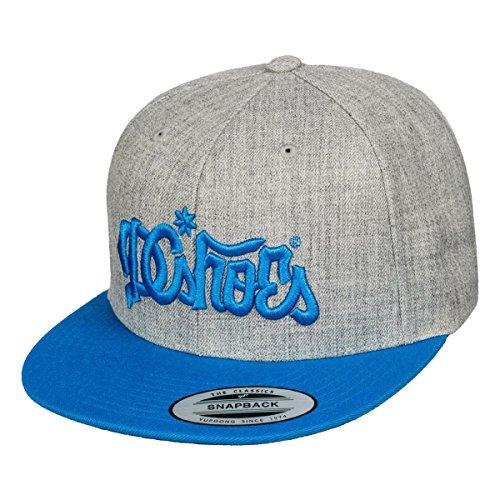 DC Shoes 123 Klan Snapback Cap grau meliert blau - Einheitsgrösse - verstellbar - Dc-mütze