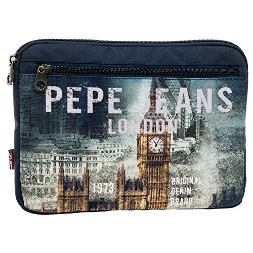 Pepe Jeans 6096851 London Beauty Case da Viaggio, Litri 1.22, Blu