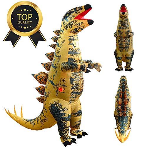 (TianranRT Erwachsener Aufblasbar Stegosaurus Dinosaurier Blow Up Fancy Kostüm Anzug Party Party Spielzeug)