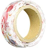 ROUNDTOP Designer 's Washi Masker Tape 20mm x 10m, azzurro Fressnapf Mattina, Katzen & Pilze (ys-mk-002)