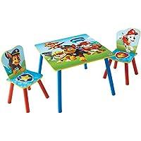 Paw Patrol Set aus Tisch und 2 Stühlen für Kinder, Holz, Red and Blue, 63 x 63 x 52.5 cm preisvergleich bei kinderzimmerdekopreise.eu