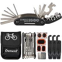 Oumers Kit de Reparación de Bicicletas,16 en 1 Herramienta multifunción para bicicleta con kit