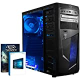 Vibox VBX-PC-4997 Vision 2LW Gaming Desktop-PC (AMD A Series A4-6300, 16GB RAM, 1TB HDD, AMD Radeon HD 8370D, Win 10 Home) blau
