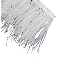 Neotrims Luxurious High Fashion Real Ostrich Feather Quality Fur Satin