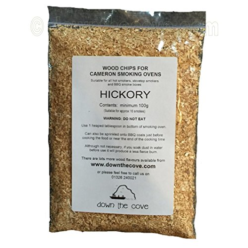 100g Hickory Wood Chips / Wood Dust for Hot Smokers / Smoking Ovens / BBQ