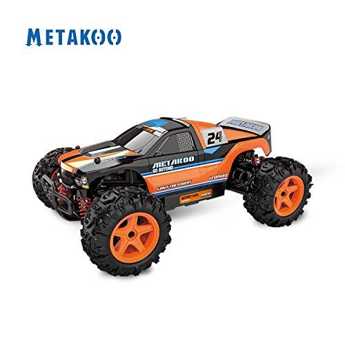 Metakoo RC Coche Radiocontrol Bateria de velocidad 45km/h Escala 1:24 Coche Control Remoto 50M Juguete con baterías recargables (cargador incluido)