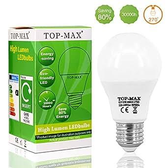 TOP-MAX ® E27 10W blanc chaud Ampoule de boule de LED 21 SMD 2835 Globe balle de Golf 270 Angle de faisceau Diningroom Readingroom The One idéal pour salon cuisine chambre Lighting 50000hrs 220V