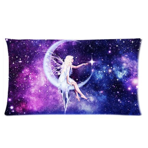 andersonfgytyh Fantasy Beautiful fairy sitting on the moon Custom Pillow Cases 20