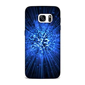 Qrioh Printed Designer Back Case Cover for Samsung S7 Edge - Exploding Honeycomb Abstract