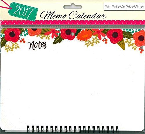 Tallon-2017a spirale Memo Calendario planner Organiser con Penna-3050fiori - Calendario Giorno Planner