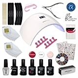Meanail UV LED Lampara secador de uñas UV Gel de uñas Manicura uñas...