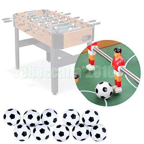 Preisvergleich Produktbild EMOTREE 10x 31mm Mini Fußball Tischfußball Bälle Ersatzbälle für Tischkicker Game Spiele