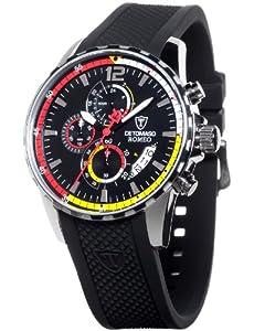 Reloj Detomaso DT2017-A de cuarzo para hombre con correa de silicona, color negro de Detomaso