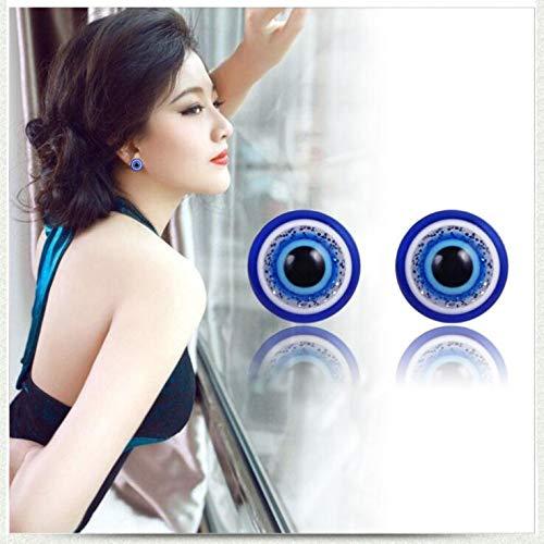 Lottoy® Damen Ohrringe Schmuck Ohrstecker stecker Bio Magnetic Slim Ohr Aufkleber Ohrringe Acupoints Gewichtsverlust tragen Abnehmen, 10mm Blaue Augen Form