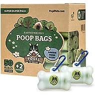 Pogi's Poop Bags - 50 Rolls (750 Bags) +2 Dispensers - Large, Biodegradable, Scented, Leak-Proof Dog Pooh Bags