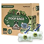 Pogi's Poop Bags - 50 Rolls (750 Dog Poo Bags) +2 Dispensers - Scented, Leak-Proof, Biodegradable Poo Bags for Dogs