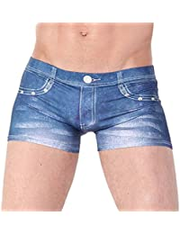 Homme Classique Style Sexy Sous-Vêtements Boxer Briefs Trunks - S M L XL- Bleu