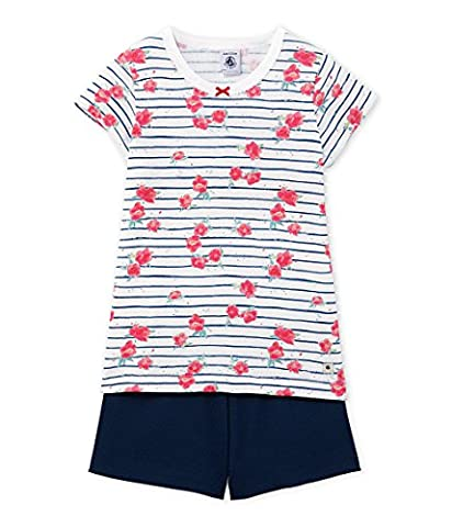 Petit Bateau Girl's Fiche Pyjama Sets, Multicoloured (Ecume/Major/Multico), 12 Years