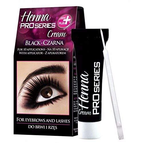 GKA Augenbrauenfarbe Wimpernfarbe schwarz - black Henna Pro Series Cream Augenbrauen Wimpern