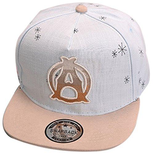 THENICE Kind Hip-Hop Cap Baseball Kappe Hut (A azurblau )