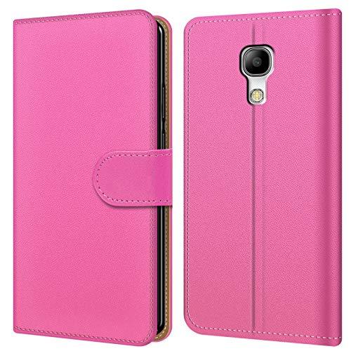 Conie BW33763 Basic Wallet Kompatibel mit Samsung Galaxy S4 Mini, Booklet PU Leder Hülle Tasche mit Kartenfächer und Aufstellfunktion für Galaxy S4 Mini Case Rosa