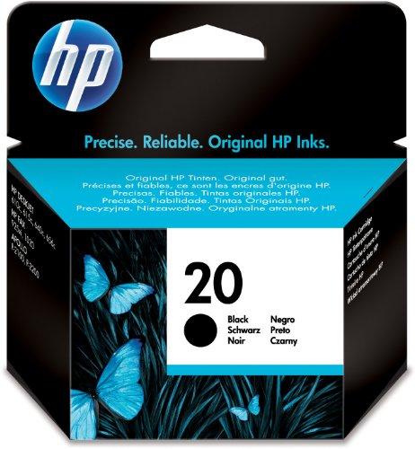 HP 20 schwarz Original Tintenpatrone (Hp Schwarz 28 Drucker Tinte)