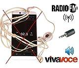 antjack Antenne Radio FM Simulator Kopfhörer für Smartphone 3,5mm Farbe schwarz