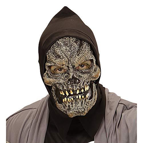 Widmann 00450 Schaumlatexmaske Grim Reaper mit Kapuze für -