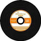 CD-Rohlinge MediaRange Vinyl Retro Optik Black Diamond 52x 80 Min. - Spindel ...
