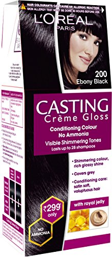 Loreal Paris Casting Creme Gloss Shade, Ebony Black  200, 21g + 24ml  available at amazon for Rs.239