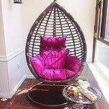 BLSTY All'aperto Poltrona Pensile Cuscino Sedia, Traspirabile Ergonomico Cuscini Schiena per Hanging Egg Chair Amaca Cesto Appeso Cuscino de Sedile-B-120x122cm(47x48pollice)