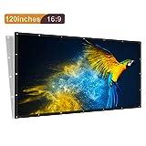 [Upgrade] Joyhero 120 Zoll Outdoor Projektionswand PVC Material, 16: 9 Zusammenklappbar Beamer Leinwand für Beamer Projektor HDTV/Sport/Filme/Präsentatione