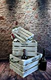 Livitat® Holzkiste 3er Set Weinkiste Landhaus Vintage Shabby Chic Used Look LV1097