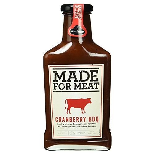 Kühne Grillsauce Made for Meat Cranberry BBQ Sauce in der Flasche, 375 ml