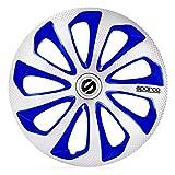 Satz Sparco Radzierblenden Sicilia 16-Zoll Silber/Blau/Karbon