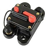 RKURCK Circuit Breaker, Fuse Holder Trolling Motor Auto Car Marine Boat Bike Stereo Audio Inline Fuse Inverter Relays DC 12-24V (150A)