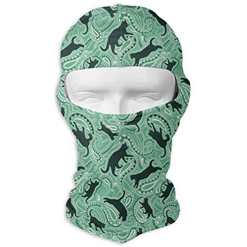 (Xukmefat Kunst Muster und Katzen Ski Maske Fahrrad Gesichtsmaske Tube Scarf Headwear 3D Magie Maske)
