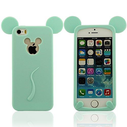 iPhone 5 & iPhone 5S & iPhone 5C & iPhone 5G Silicone Coque Case Housse, Mickey Style Design, Mignon L'Oreille de Souris Modélisation