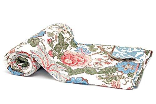 1001 Wohntraum 15S02-2 Quilt Lucy Blumen Ranken Landhaus Shabby chic Plaid Tagesdecke Deck