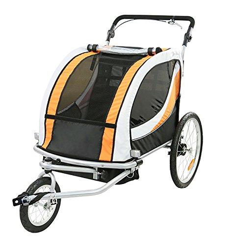 TIGGO World Kinderfahrradanhänger Fahrradanhänger Jogger 2in1 Anhänger Kinderanhänger JBT03N-D03 802-D03