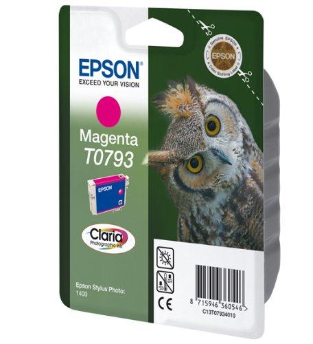 Epson T0793 Cartouche d'encre d'origine Claria magenta pour SP 1400