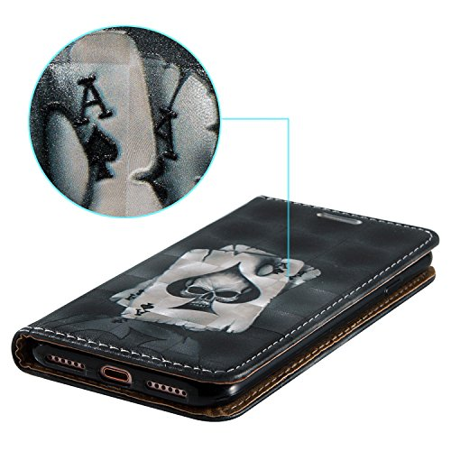 Cozy Hut Hülle Case Cover Für iphone 7 , 3D HD Exklusive Ultra Thin Leicht TPU Silikon Weiche + Anti-Fingerprint kratzfeste + Drucken Muster Printing Pattern 3D Landschaft Weißer Löwenzahn + Premium P Poker