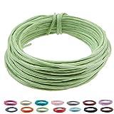 Basteldraht 2 mm - Länge 10 Meter, Papierraffia grün