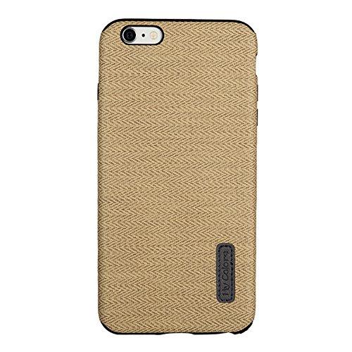 MOONCASE iPhone 6 Plus/iPhone 6s Plus Cover, Custodie Morbide TPU Antigraffio Antiurto Protettive [Fabric Pattern] Resiliente Armor Case Cover per iPhone 6 Plus/iPhone 6s Plus 5.5 Orange Yellow-2