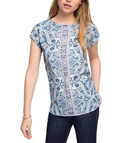 ESPRIT Collection Damen T-Shirt 036eo1k009-Fließend Weiche Qualität Mehrfarbig (INK 415)