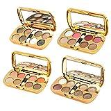 SMILEQ 8 Farben Kosmetikpulver Smoky Lidschatten Palette Make-up Set Matt Verfügbar (B)