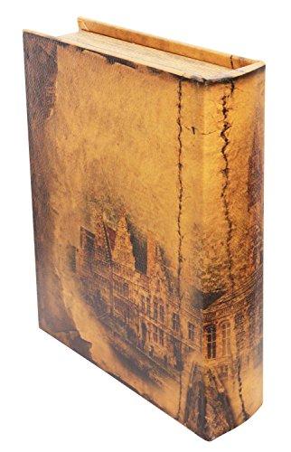 Schatulle 30cm Stadt Buchattrappe Box Schmucketui Buchtresor Buchsafe - 5