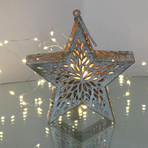 albena shop 74-10 Weihnachtsstern Teelichthalter Metall Kerzenhalter Advent (Stern 16cm)